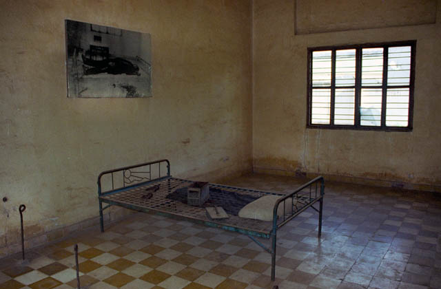Today Tuol Sleng Museum during Pol Pot regtime feared prison known as Security Prison 21 (S-21). Cambodia.