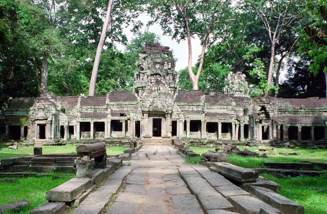 Entrance to the Ta Prohm temple. Angkor Wat temples area. Cambodia.