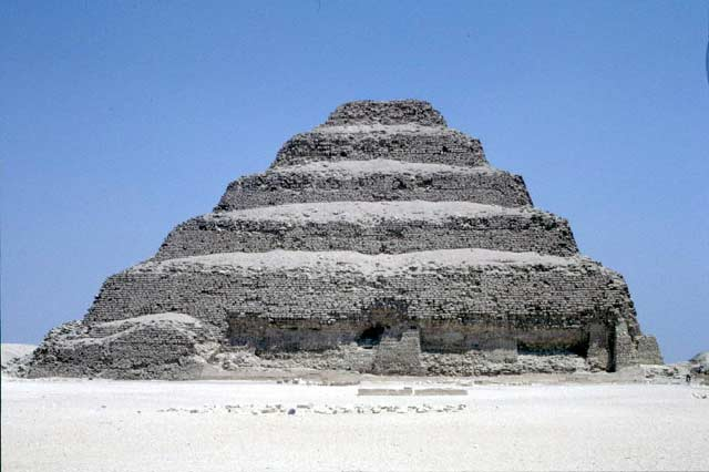 Zoser's Step Pyramid in Saqqara. Egypt.