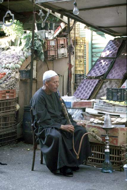 Relax in Cairo street. Egypt.