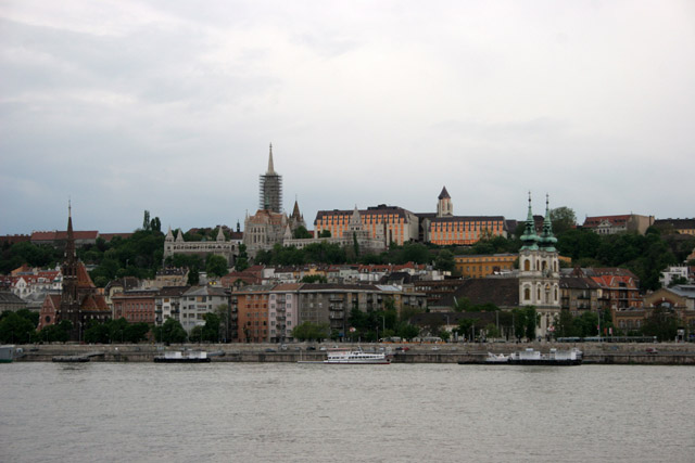 View from Danube River front, Budapest. Hungary.