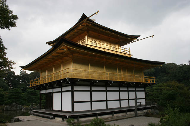 Kinkaku-ji temple (also called Temple of the Golden Pavilon) is Zen Buddhist temple, Kyoto. Japan.
