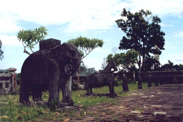 Royal tomb of Thieu Tri near Hue. Vietnam.