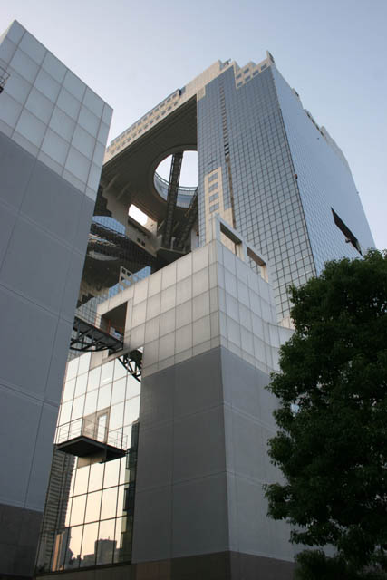 Osaka city. it is full of modern architecture. An example is Floating Garden Observatory (Umeda Sky Building). Japan.