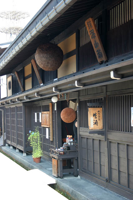 Takayama town is known as for its sake brewerie. Japan.
