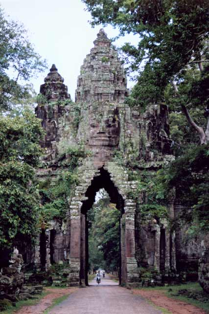 North Gate of Angkor Thom. Angkor Wat area. Cambodia.