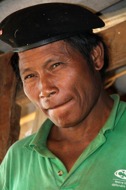 Man from Eng tribe (sometimes called Ann or black teeth people), area around Kengtung town. Myanmar (Burma).