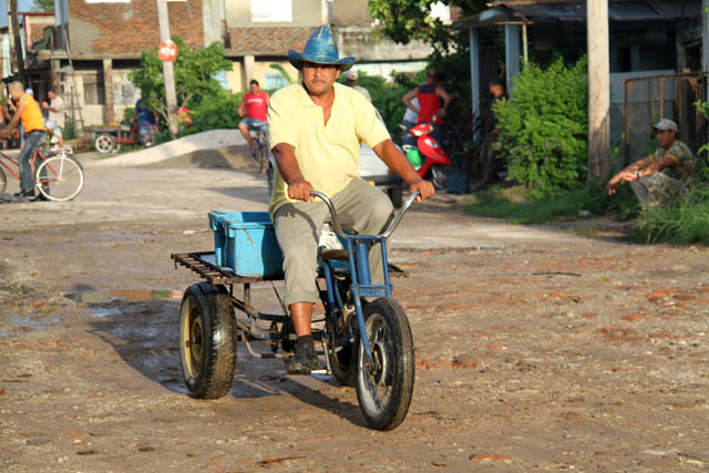 Transportation to morning market, Camaguey. Cuba.
