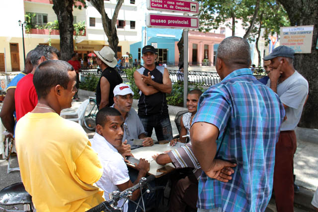 Dominoes players, Bayamo. Cuba.