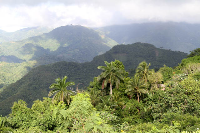 Mountains around Baracoa town. Cuba.