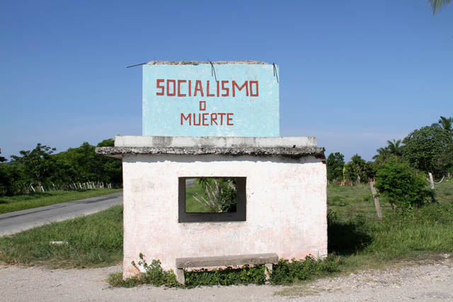 Socialismo o Muerte. It can be seen all around country. Cuba.