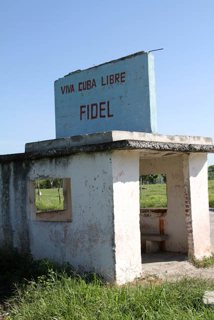 Viva Cuba Libre, Fidel. It can be seen all around country. Cuba.