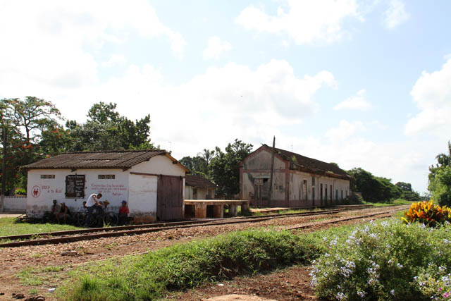 Local train station, Isabel village. Cuba.