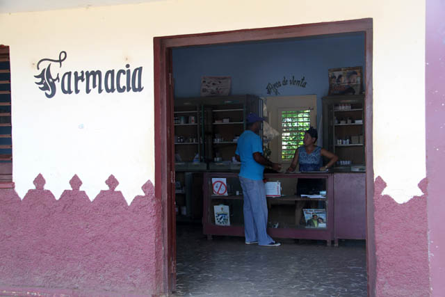 Pharmacy, Isabel village. Cuba.