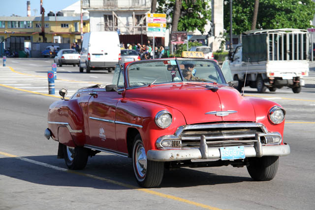 Old and nice american cabriolet, Havana. Cuba.