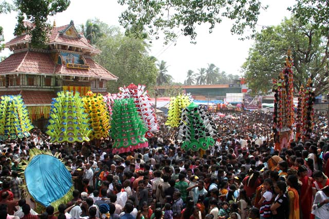 Thaipooya Mahotsavam Festival. Sree Maheswara Temple at Koorkancheri in the Thrissur town at Kerala. India.