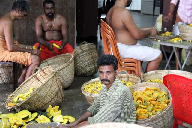 Preparation of Ernakulam Shiva Temple Festival. Ernakulam, Kerala. India.