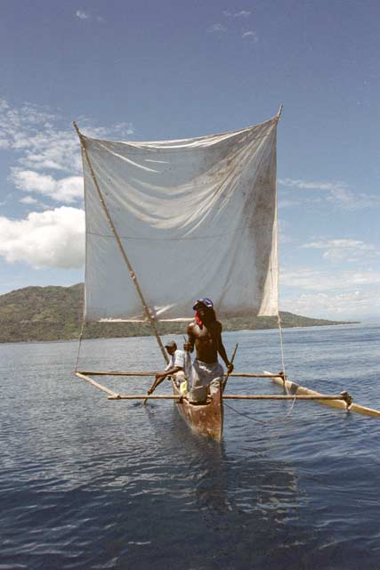 Traditional boat pirogue, Nosy Be. Madagascar.