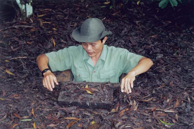 Cu Chi tunnels. This place was hiding-place for soldiers of north Vietnam during vietnam war. Vietnam.