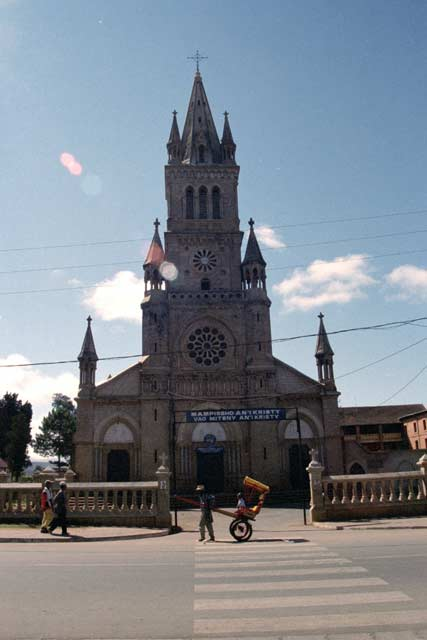Church at Antsirabe. Madagascar.