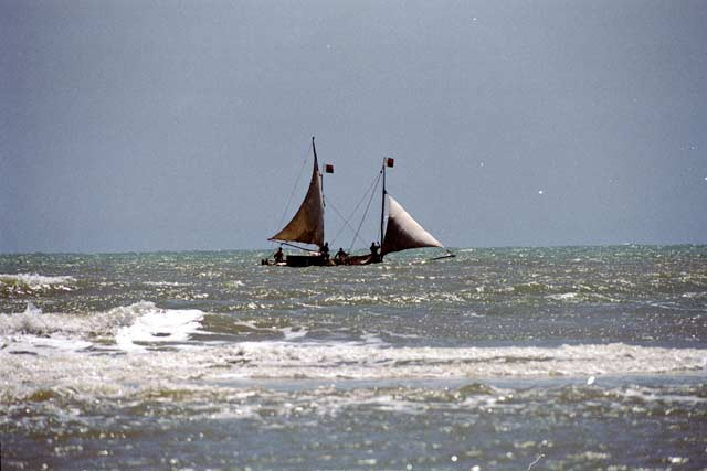 Sailing ship at Morondava. Madagascar.