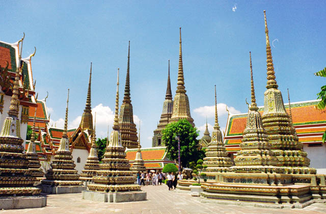 Complex with reclining Buddha Wat Pho. Bangkok. Thailand.