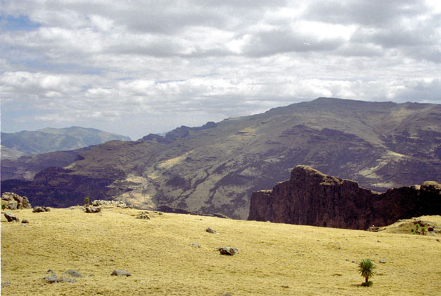 Simien mountains. Viewpoint to Bwahit. North,  Ethiopia.