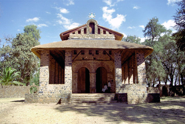Debre Berhan Selassie church in Gonder. North,  Ethiopia.