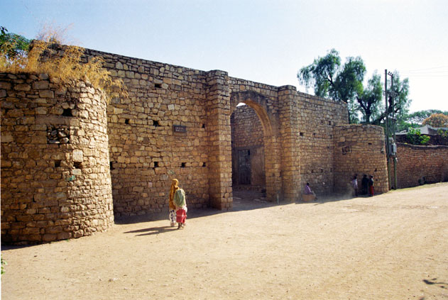 Walls and gate of old Harar. East,  Ethiopia.