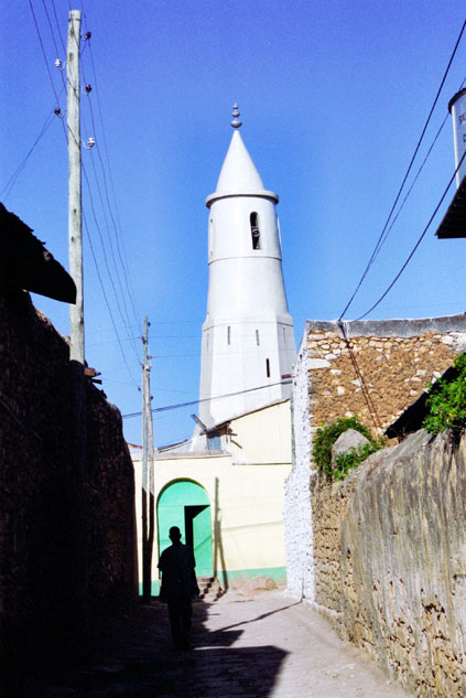 One of many mosques in old town Harar. East,  Ethiopia.