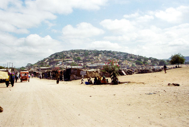 View to market area in Dire Dawa. East,  Ethiopia.