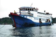 Ship which we used for travelling to Siberut island. Indonesia.