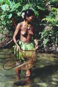 Fishing. Siberut island. Indonesia.