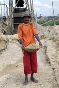 Worker at diamond mining field in Cempaka. Kalimantan, Indonesia.