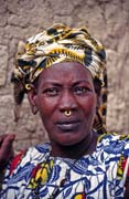 Local woman probably from Bozo tribe. Small village near Mopti. Mali.