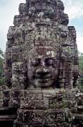 The Bayon - temple of smiling faces. Angkor Wat temples area. Cambodia.