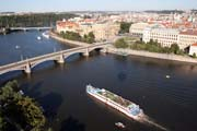 Awesome Prague panorama from balloon. Czech Republic.
