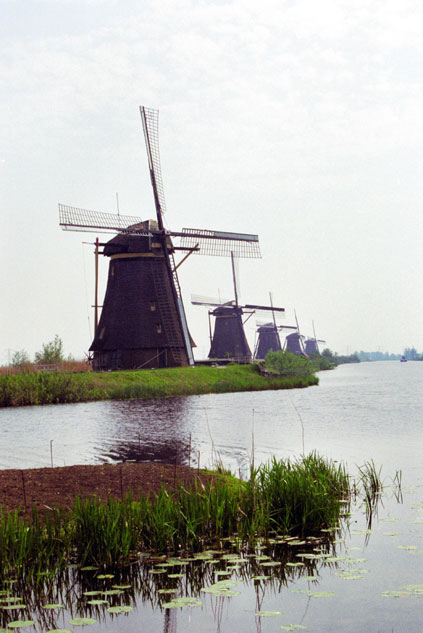 Wind mills. Kinderdijk. Netherlands.